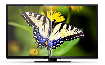 saturazione del colore di un televisore