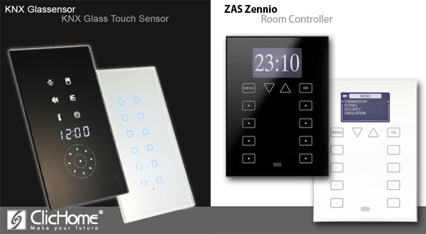 Glass Touch ControlTronic vs Zennio ZAS